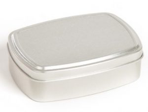 reusable tin for zero waste face oil bar